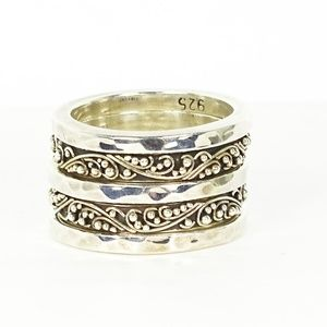 Lois HIll Sterling Set of Five Rings Sz 6.25